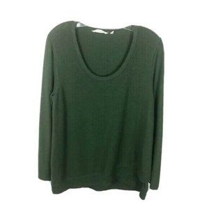 Soft Surroundings Sweatshirt Green Scoop Neck Soft
